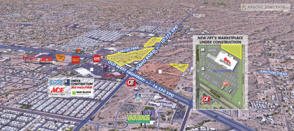 FOR SALE: +/- 48 Acres of Commercial & Residential Land Parcels | Apache Junction Arizona